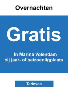 Gratis overnachten in Marina Volendam