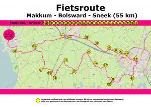 Fietsroute Makkum - Bolsward - Sneek